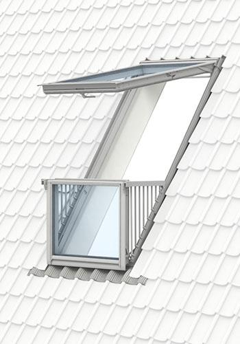 VELUX Balkon - Geniet van een inpandig balkon met de VELUX CABRIO® balkonvenster